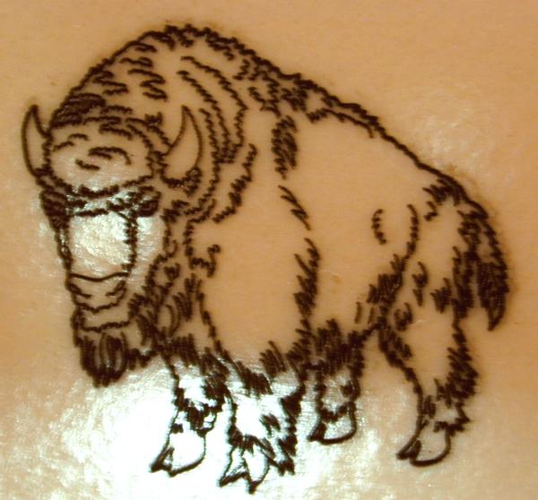 Buffalo tattoo - photo#24